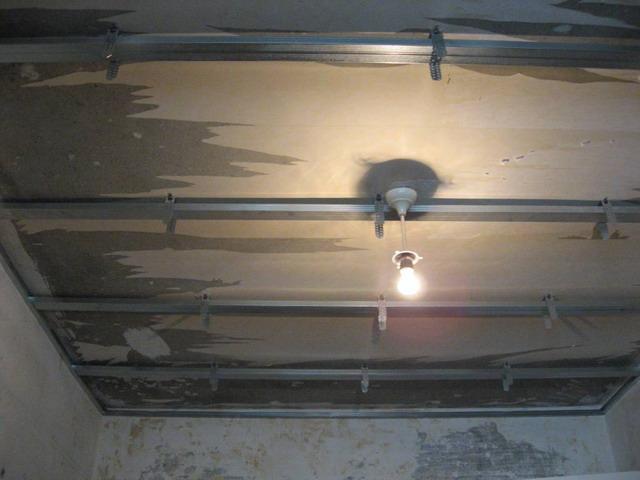 Подвесной потолок установка