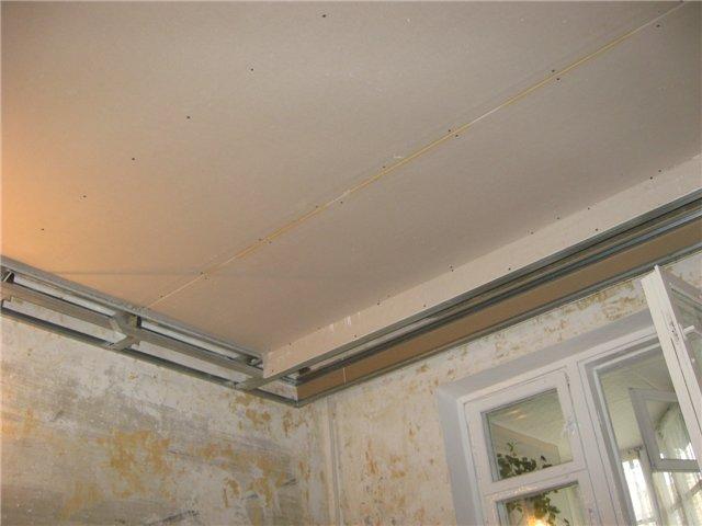 Подвесной потолок шпаклевка