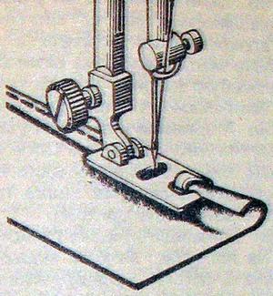 Подшить край на швейной машинке
