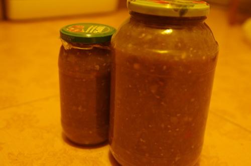 Домашний соус из зеленых помидоров